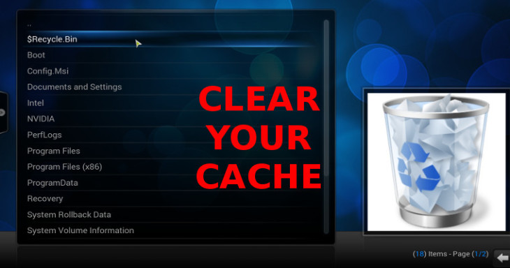 clear your cache in the android tv box